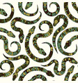 seamless pattern with snakes vector image