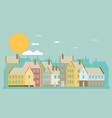 city landscape flat vector image