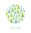 Holiday Christmas trees circle decor pattern vector image