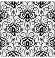 floral seamless black lace pattern vector image vector image
