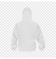 Back of white hoodie mockup realistic style vector image
