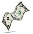 Dancing Dollar Money background vector image