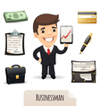 businessman set vector image