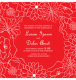 red floral card vector image vector image