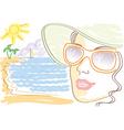 woman sunglasses vector image vector image