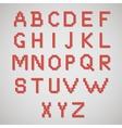 pixel art alphabet vector image