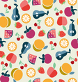 ruit background in Flat style vector image