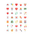 Valentine Colored Icons 1 vector image
