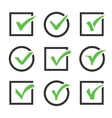 Check mark icon boxes set vector image