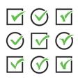 Check mark icon boxes set vector image