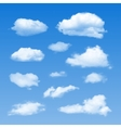 Collection of Cloud Symbols vector image