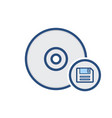 compact disk drive floppy save storage icon vector image