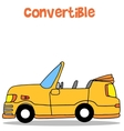 Convertible car of collection stock vector image