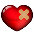 Heart with plaster vector image