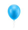 light blue realistic balloon vector image
