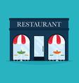 restaurant building Facade icons Ideal vector image