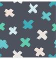 Seamless brush strokes pattern vector image