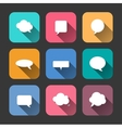 Speech Bubbles Icons Set in Flat Style vector image