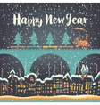 Christmas card with a vintage steam vector image vector image