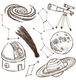 Set of astronomical objects vector image