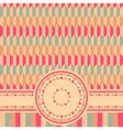 geometrical retro card vector image