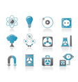 atomic and nuclear energy icons vector image vector image