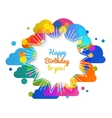 birthday greeting card in bright warm vector image