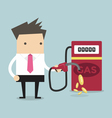 Businessman and gas station vector image
