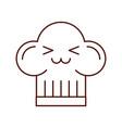 cartoon fun hat for chef kawaii vector image