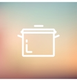 Casserole thin line icon vector image