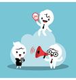 cloud computing concept business cartoon vector image