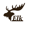 Elk logo design template vector image