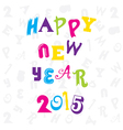 happy new year 2015 doddle design vector image