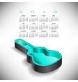 2018 guitar case music calendar vector image vector image