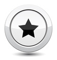 Button with Star Icon vector image vector image