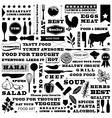 restaurant pattern vector image