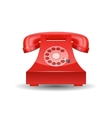 Red Phone with Rotary Dial isolated vector image