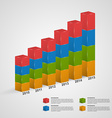 3D financial bar graph infographic or timeline vector image