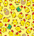 chicken seamless pattern vector image vector image