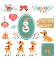 Christmas and new year graphic elements vector image