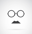Glasses and mustache vector image vector image