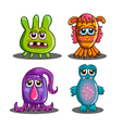 Set of cute cartoon monsters-2 vector image