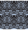 Abstract black lace blue moire pattern vector image