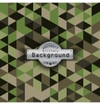 Camouflage military triangle pattern background vector image