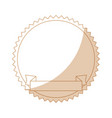 decorative frame with ribbon icon vector image