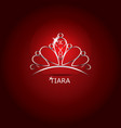 Decorative tiara vector image