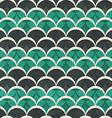 green half circle seamless pattern vector image