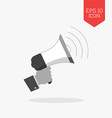 Hand holding megaphone icon promotion concept Flat vector image
