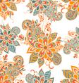 seamless pattern in boho style Henna mehndi design vector image
