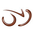 set of chocolate sauce swirls vector image
